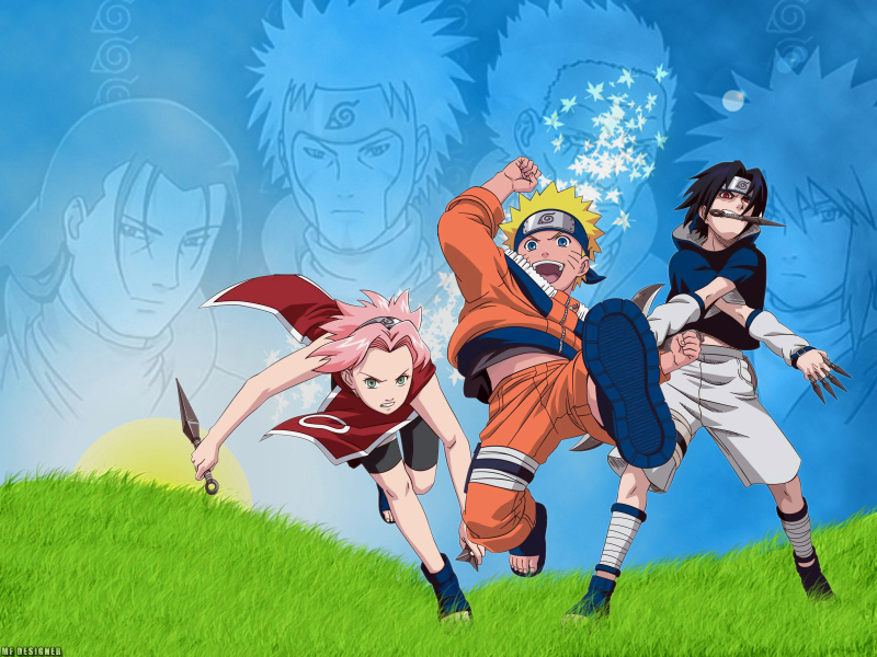Naruto Sasuke Sakura Group Wallpaper